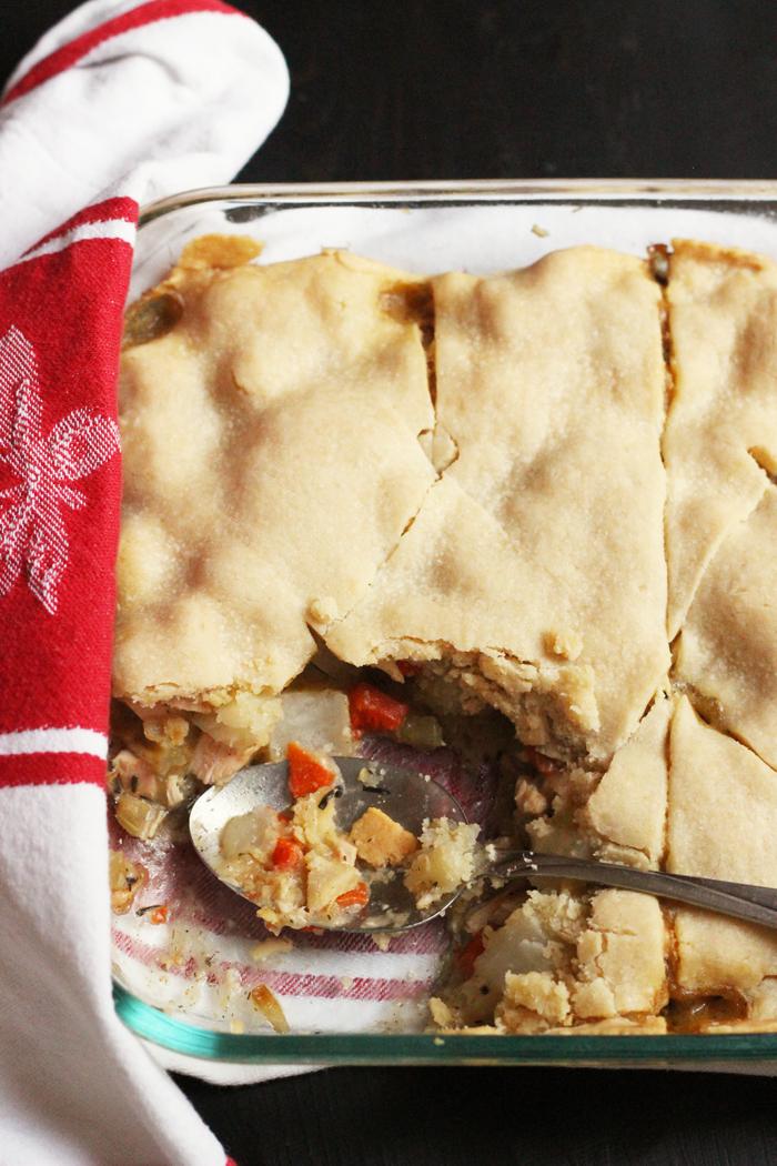 Single Crust Pot Pie with Chicken or Turkey