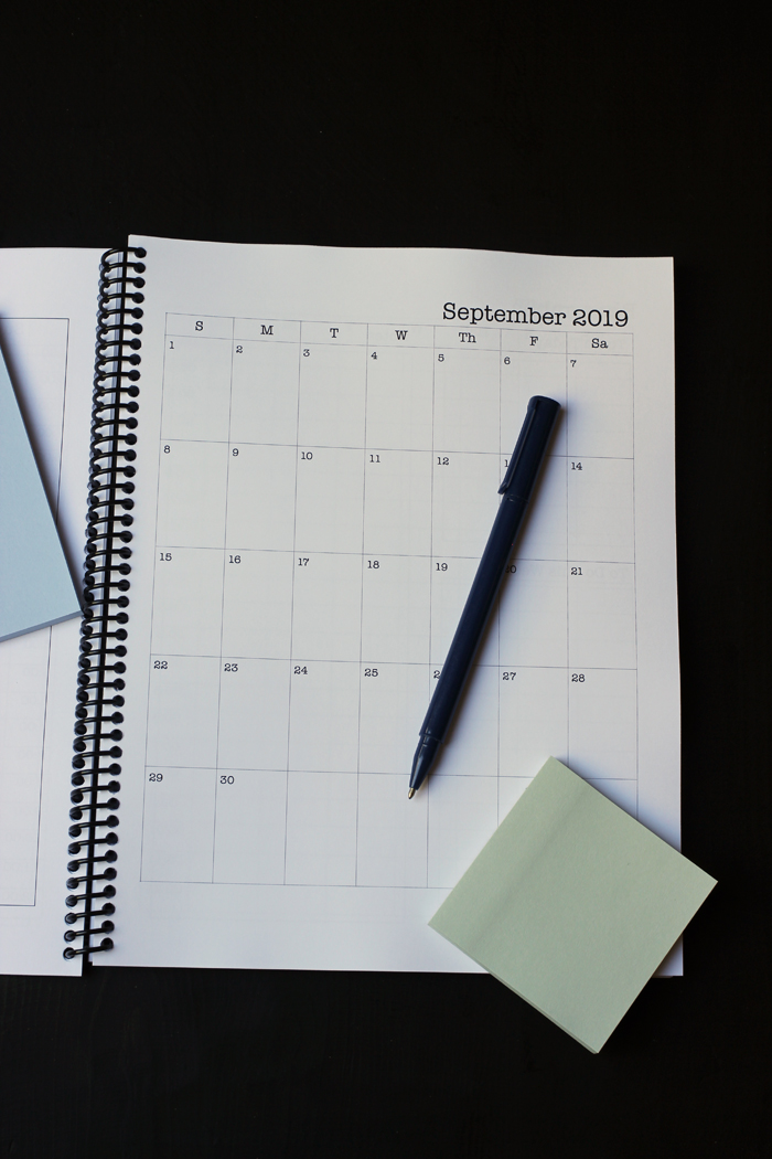 student planner september