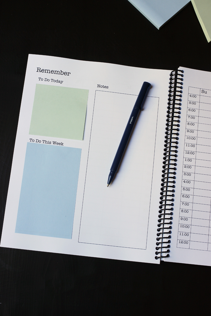 student planner weekly notes