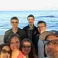 family selfie on the beach in maui