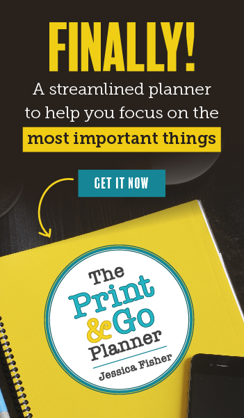 sales ad for print and go planner